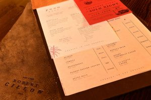 food menu, robert gillow, Lancaster
